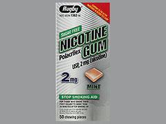 NICOTINE GUM 2MG MINT RUG 50 - 50 EACH