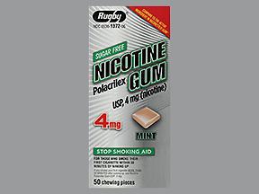 NICOTINE GUM 4MG MINT RUG 50 - 50 EACH
