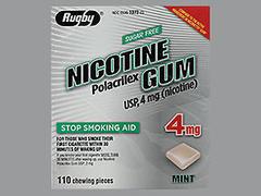 NICOTINE GUM 4MG MINT RUG 110 - 110 EACH
