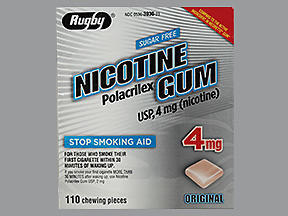 NICOTINE GUM 4MG S/KT WA 110@ - 110 EACH