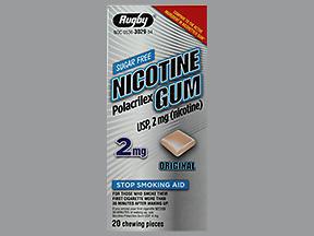 NICOTINE GUM 2MG REG WAT 20 - 20 EACH