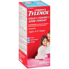 TYLENOL CHLD CC/ST SUSP BG 4OZ - 4 OUNCE