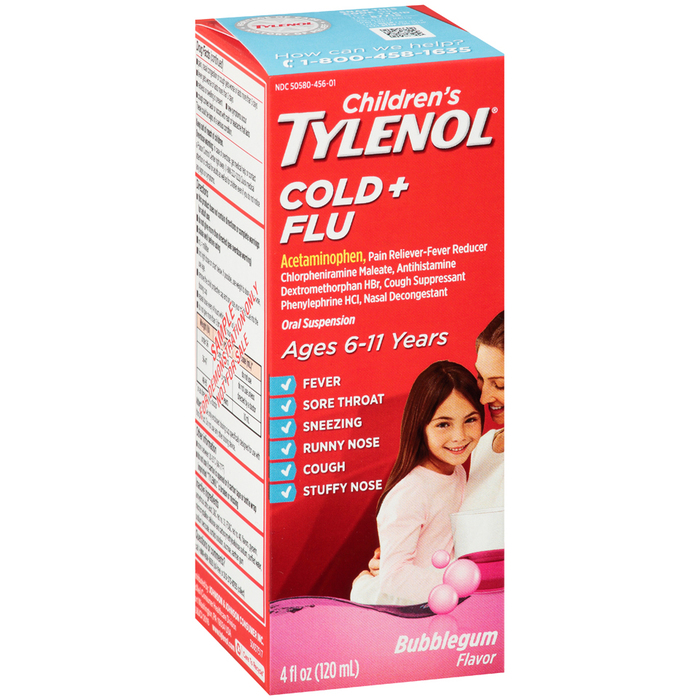 TYLENOL CHLD C/FLU SUSP BG 4OZ - 4 OUNCE