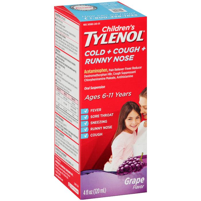 TYLENOL CHLD CC/RN SUSP GRP4OZ - 4 OUNCE