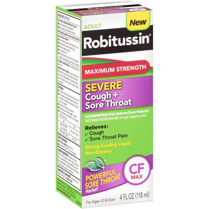 ROBITUS SEV COU+SORE THRT 4OZ - 4 OUNCE