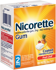 Nicorette 2 mg Fruit Chill - 100 EA