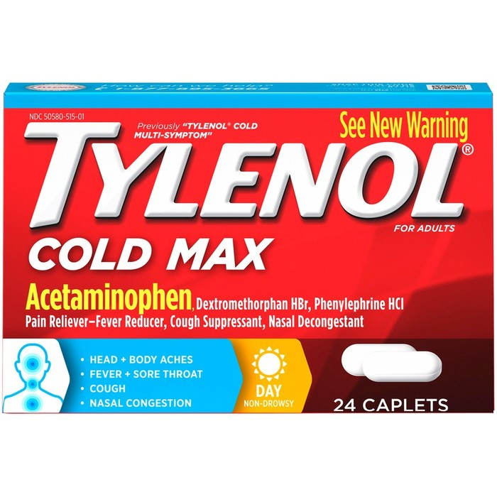 TYLENOL Cold Max Day - 24 Caplets