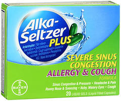 Alka-Seltzer Plus Severe Sinus Congestion Allergy & Cough Liquid Gels - 20 EA