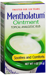 Mentholatum Decongestant Ointment, For Colds, Chapped Lips & Skin, Menthol  - 1oz