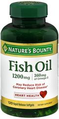 Nature's Bounty Fish Oil 1200 mg Omega-3 100 Softgels