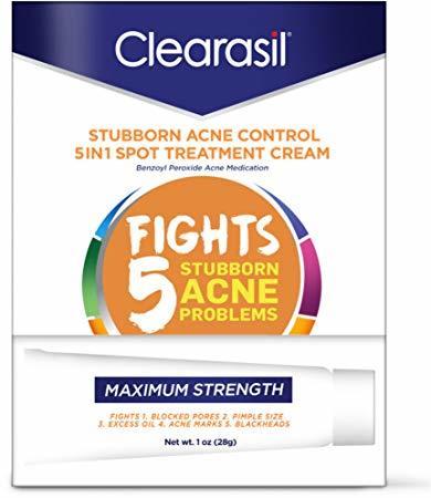 Clearasil Acne Treatment Cream, Maximum Strength, Vanishing  - 1oz