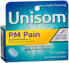 Unisom PM Pain SleepCaps - 30 CP