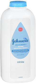Johnson's Baby Powder, Pure Cornstarch with Aloe & Vitamin E  - 22oz