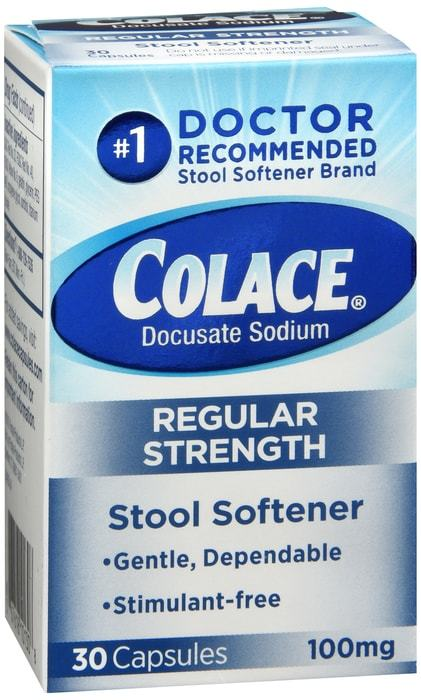 Colace Capsules Regular Strength 30 CT