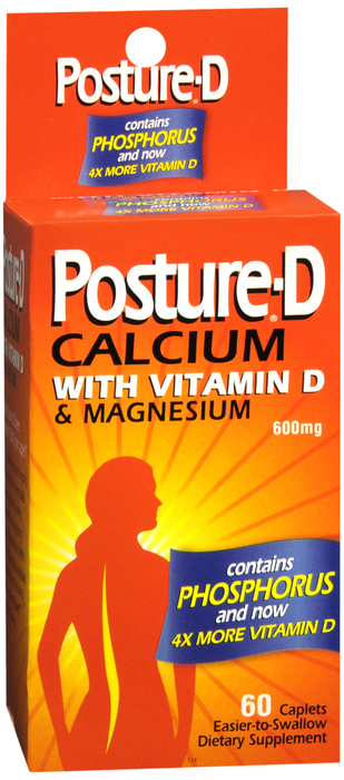 Posture-D Calcium with Vitamin D & Magnesium Caplets 60 CT