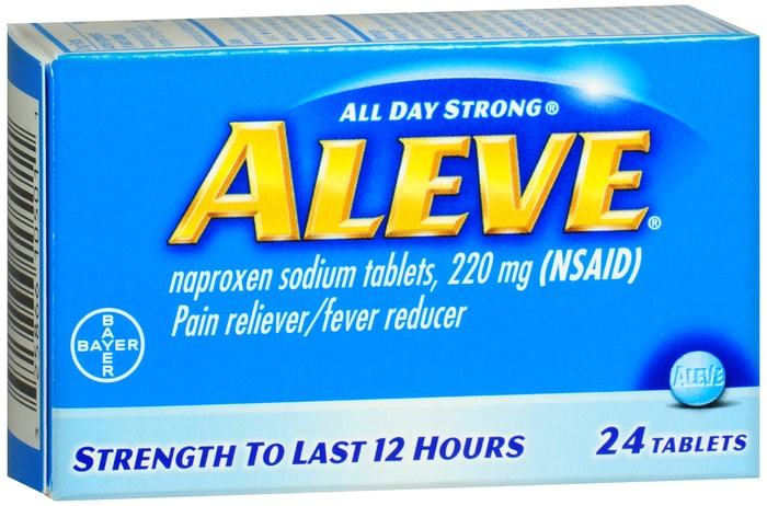 Aleve Pain reliever / Fever reducer (220mg) - 24 Tablets