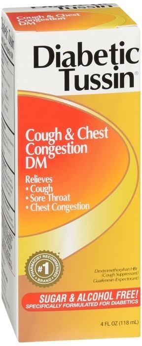 Diabetic Tussin Cough & Chest Congestion DM Liquid 4 OZ