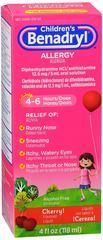 Benadryl Children's Allergy Liquid Cherry Flavore 4 OZ