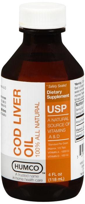Humco Cod Liver Oil USP 4 OZ
