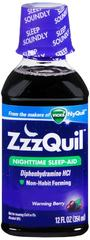ZzzQuil Nighttime Sleep-Aid Liquid Warming Berry 12 OZ