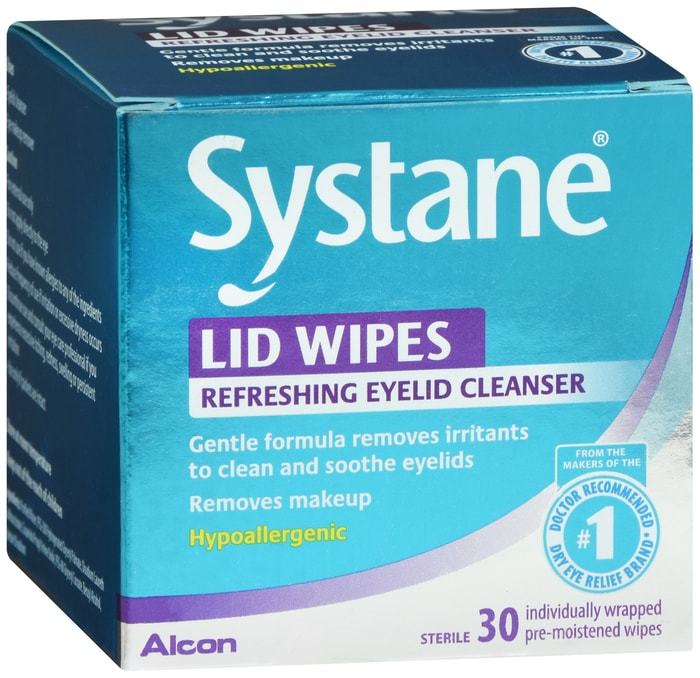 Systane Lid Wipes Eyelid Cleanser 30 CT