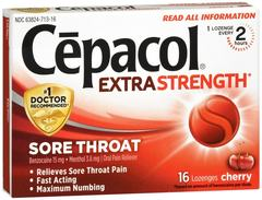 Cepacol Extra Strength Sore Throat Lozenges Cherry 16 CT