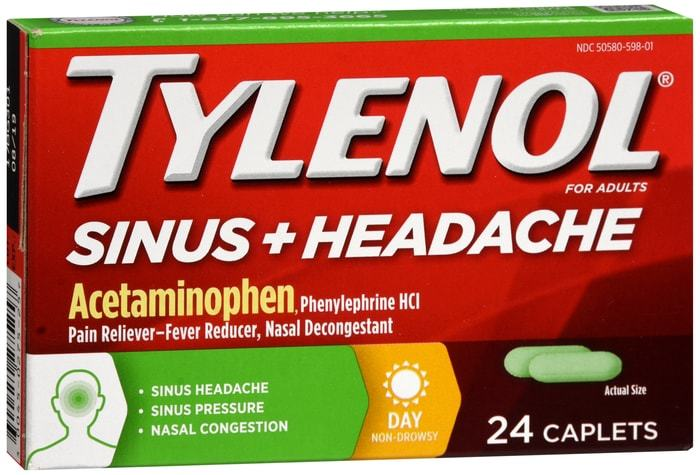 Tylenol Sinus + Headache Caplets Day 24 CT