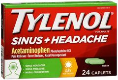 Tylenol Sinus + Headache Caplets Day 24 CT