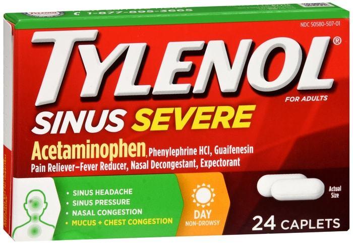 Tylenol Sinus Severe Caplets Day 24 CT