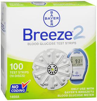 Breeze 2 Disc Test Strips - 100 CT