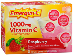 Emergen-C Vitamin C 1000mg Rasberry Dietary Supplement - 30 CT