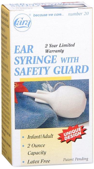 Cara Ear Syringe with safety guard - 2 oz capacity