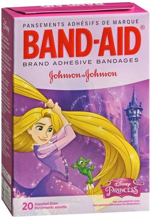 Band-Aid Disney Princess - Children's First Aid Dressings - 20 CT