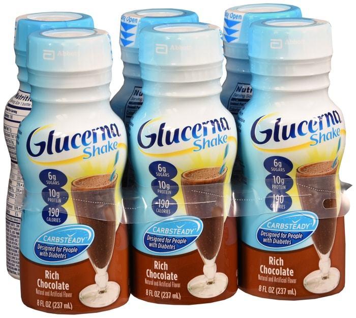 Glucerna Shake Liquid Chocolate - 6 x 8oz